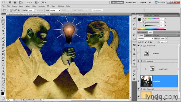 Difference, Exclusion, Subtract, and Divide: Photoshop CS5 One-on-One: Mastery