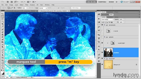 Blending an inverted layer: Photoshop CS5 One-on-One: Mastery