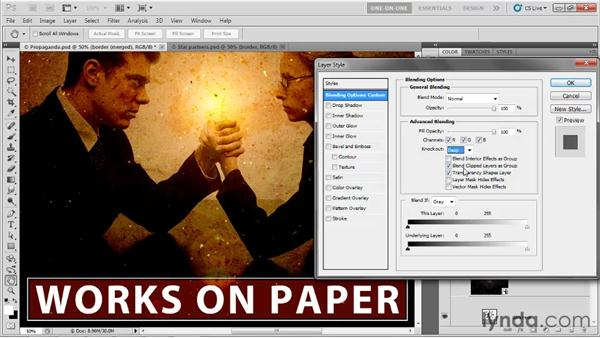 Making a knockout layer: Photoshop CS5 One-on-One: Mastery