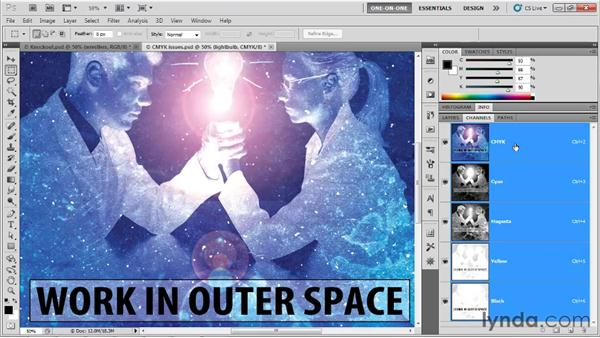 Overprinting black text: Photoshop CS5 One-on-One: Mastery