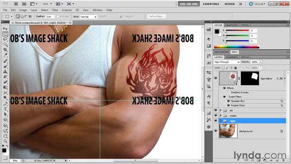 Double-flipping text: Photoshop CS5 One-on-One: Mastery