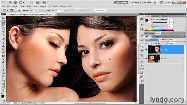 Creating a double-exposure effect: Photoshop CS5 One-on-One: Mastery