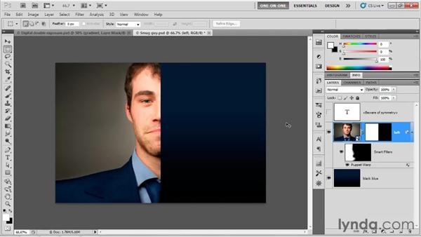 Copying vs. cloning a Smart Object: Photoshop CS5 One-on-One: Mastery