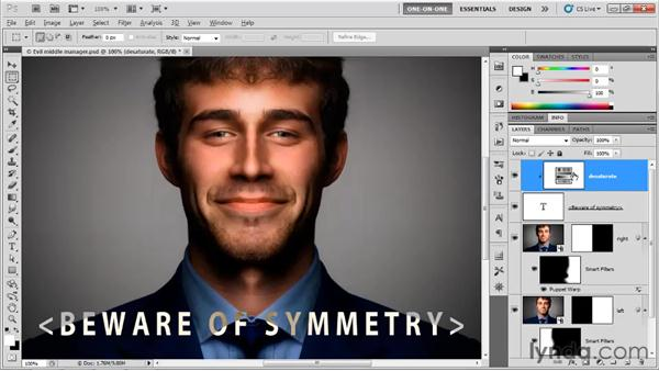 Text that inverts everything behind it: Photoshop CS5 One-on-One: Mastery
