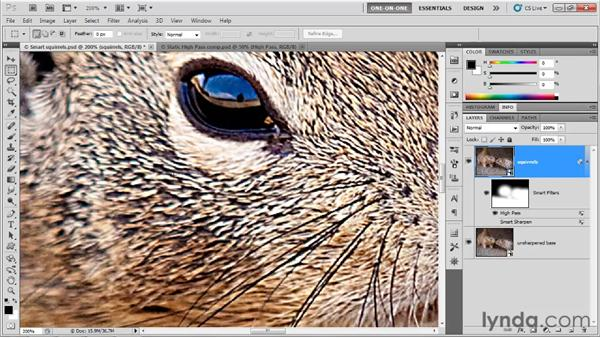 Smart High Pass in the Lab mode: Photoshop CS5 One-on-One: Mastery