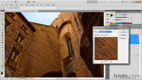 Sharpening a high-frequency image: Photoshop CS5 One-on-One: Mastery