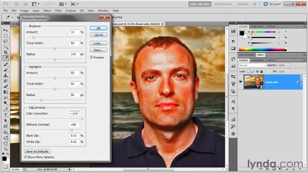 Shadows/Highlights as a Smart Filter: Photoshop CS5 One-on-One: Mastery