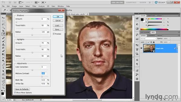 Better Shadows/Highlights inside Lab: Photoshop CS5 One-on-One: Mastery