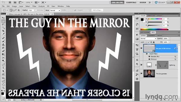 Filtering live, editable text: Photoshop CS5 One-on-One: Mastery