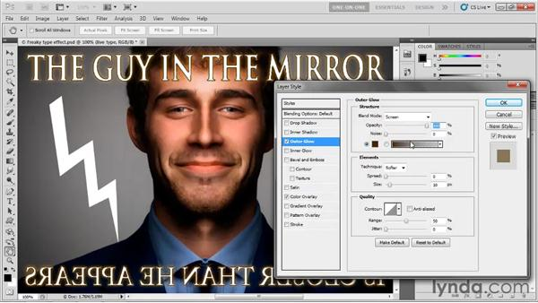 Enhancing filters with layer effects: Photoshop CS5 One-on-One: Mastery