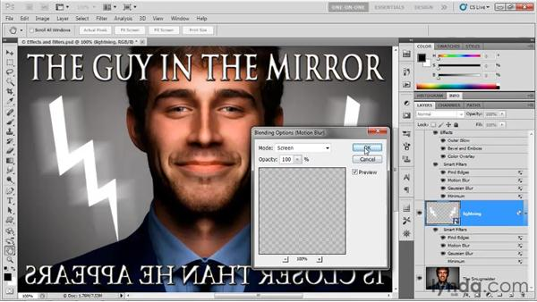 Applying a filter multiple times: Photoshop CS5 One-on-One: Mastery