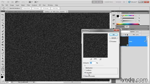 Creating a synthetic star field: Photoshop CS5 One-on-One: Mastery