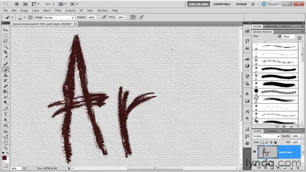 Painting with a predefined custom brush: Photoshop CS5 One-on-One: Mastery