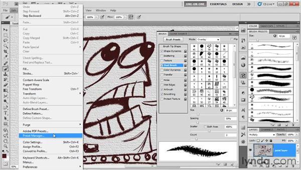 Saving and loading brush presets: Photoshop CS5 One-on-One: Mastery