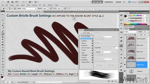 Size, Spacing, and Angle: Photoshop CS5 One-on-One: Mastery