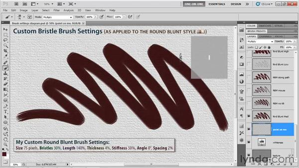 Using the Bristle Brush preview: Photoshop CS5 One-on-One: Mastery