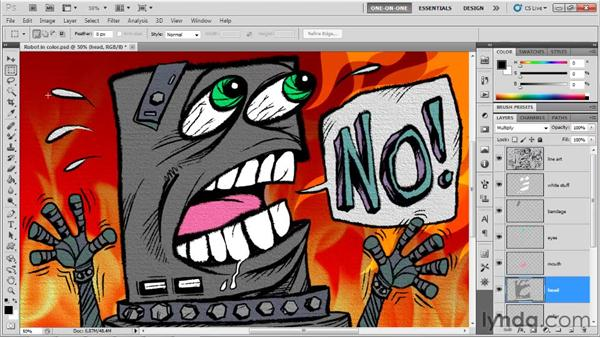 Shading a piece of graphic art: Photoshop CS5 One-on-One: Mastery