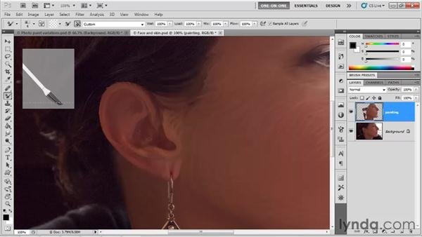 Covering up and augmenting details: Photoshop CS5 One-on-One: Mastery