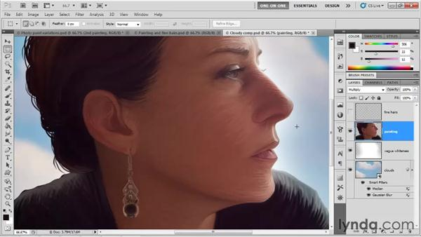 Adding texture with the Emboss filter: Photoshop CS5 One-on-One: Mastery