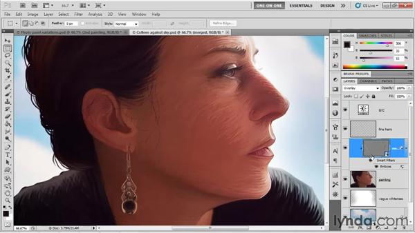 "Exploiting a ""happy accident"": Photoshop CS5 One-on-One: Mastery"