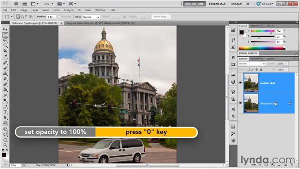 The Auto-Align Layers command: Photoshop CS5 One-on-One: Mastery