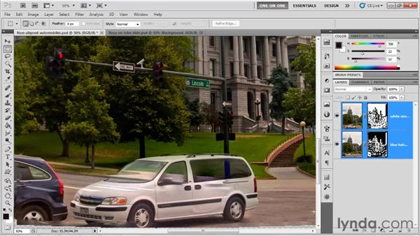The Auto-Blend Layers command: Photoshop CS5 One-on-One: Mastery