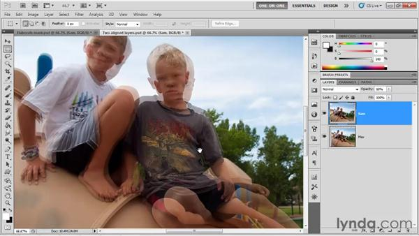 Creating the best possible layer mask: Photoshop CS5 One-on-One: Mastery