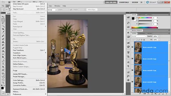 Auto-blending depths of field: Photoshop CS5 One-on-One: Mastery