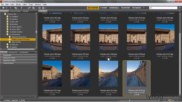 Shooting and downsampling panorama images: Photoshop CS5 One-on-One: Mastery