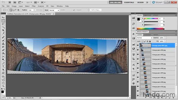 Loading, aligning, and blending with Photomerge: Photoshop CS5 One-on-One: Mastery