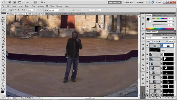 Adding a masked element into a panorama: Photoshop CS5 One-on-One: Mastery