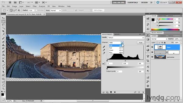 Simplifying and correcting a panorama: Photoshop CS5 One-on-One: Mastery