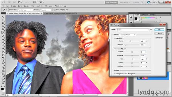 The Local Adaptation options: Photoshop CS5 One-on-One: Mastery