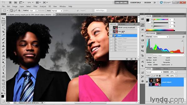 Nondestructive editing with HDR Toning: Photoshop CS5 One-on-One: Mastery