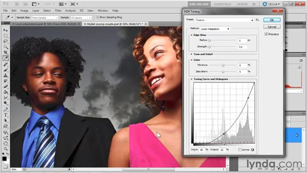 Using the HDR Toning Curve: Photoshop CS5 One-on-One: Mastery