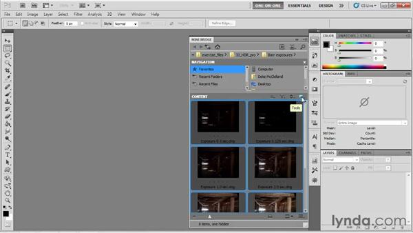 Merging multiple exposures: Photoshop CS5 One-on-One: Mastery