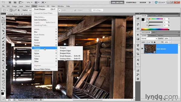 Generating and editing an HDR comp: Photoshop CS5 One-on-One: Mastery
