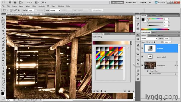 HDR rendered to completion: Photoshop CS5 One-on-One: Mastery