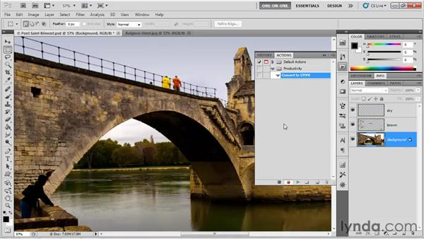 Making an action: Photoshop CS5 One-on-One: Mastery