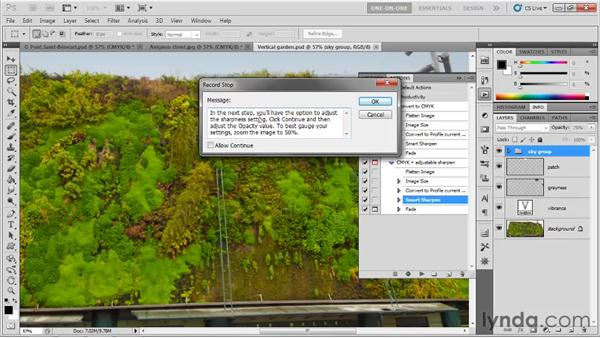 Explaining an action with a custom stop: Photoshop CS5 One-on-One: Mastery