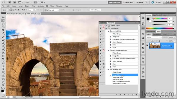 Creating an action to save web graphics: Photoshop CS5 One-on-One: Mastery