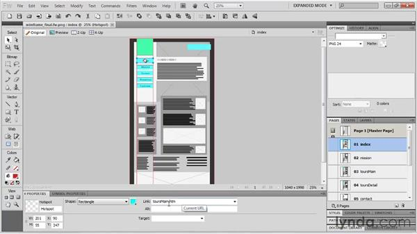 Using PDFs for wireframe and design feedback: Fireworks CS5: Rapid Prototyping