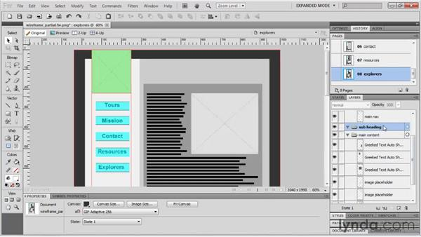 Saving time with button symbols: Fireworks CS5: Rapid Prototyping