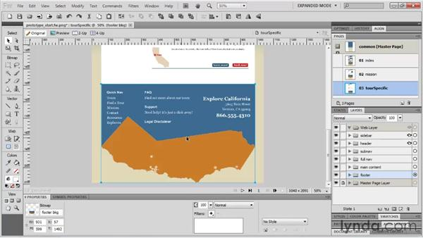 Sharing assets to pages: Fireworks CS5: Rapid Prototyping