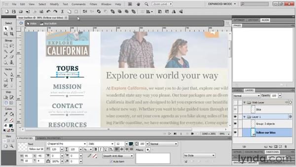 Adding basic interactivity: Fireworks CS5: Rapid Prototyping