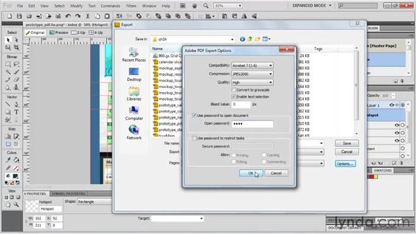 Exporting storyboards as PDFs: Fireworks CS5: Rapid Prototyping