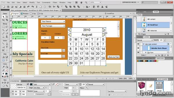 Exploring the completed prototype: Fireworks CS5: Rapid Prototyping