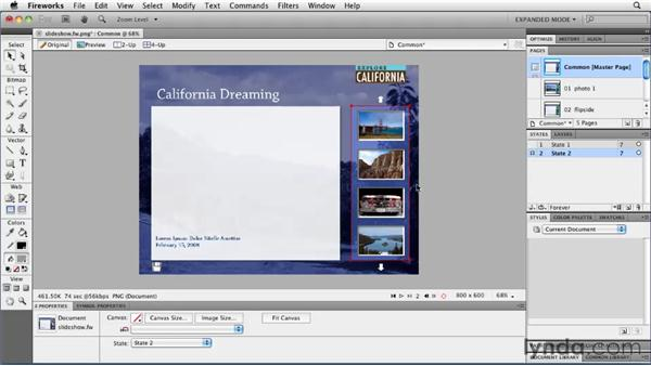 Examining the structure: Fireworks CS5: Rapid Prototyping