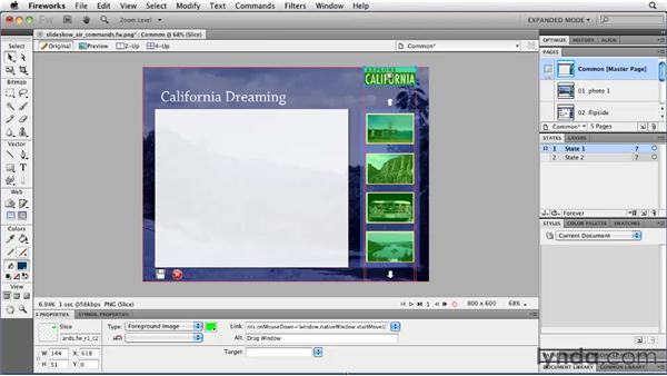 Adding events: Fireworks CS5: Rapid Prototyping