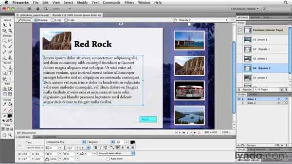 Adding pages: Fireworks CS5: Rapid Prototyping